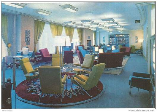Schip Le Havre, 1ste klasse, schrijfkamer en bibliotheek