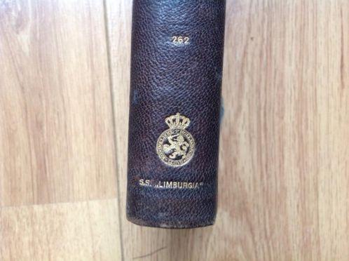 Boek uit de scheepsbibliotheek van stoomschip Limburgia van de Hollandse Ljoyd