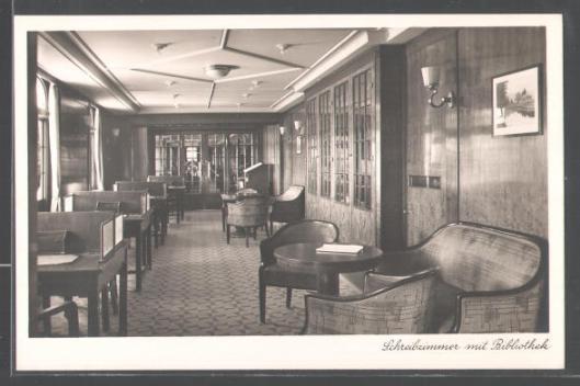 M.S. Monte Pascoal; Schreibzimmer mit Bibliothek