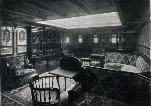 Steamship 'New England': library