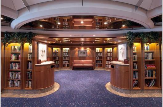 Library on the Jewel of the Seas (Royal Caribbean Cruises)