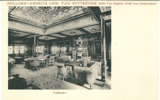 T.S.S. Rotterdam (Holland America Line): library