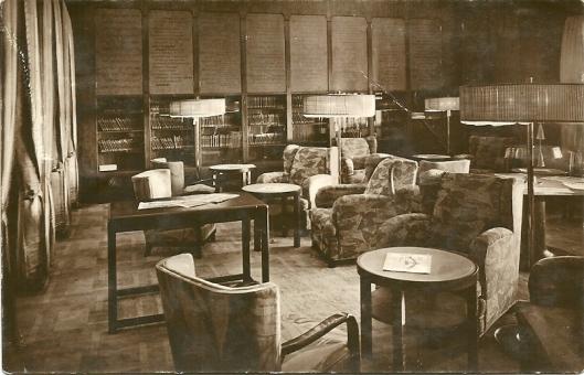 Turbinen-Schnelldampfer 'Bremen' Bibliothek 1. Klasse