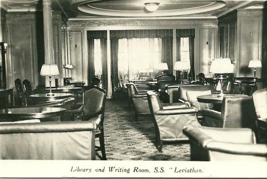 Stoomschip Leviathan: bibliotheek en schrijfzaal