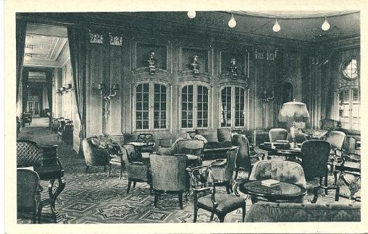 Norddeutscher  Lloyd Bremen 'Columbus' Bibliothek 1. Klasse