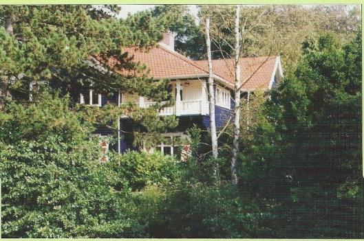 Huize 'de Echo' in het groen