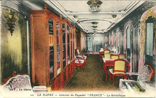 Bibliotheek van pakketboot 'France', Le Havre