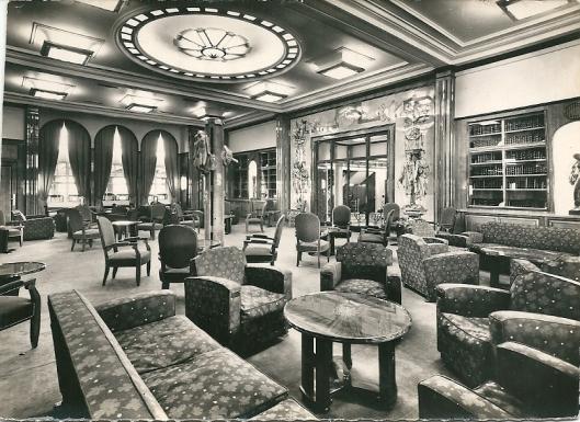 Schip Liberté (Compagnie Générale Transatlantique); bibliotheek eerste klasse