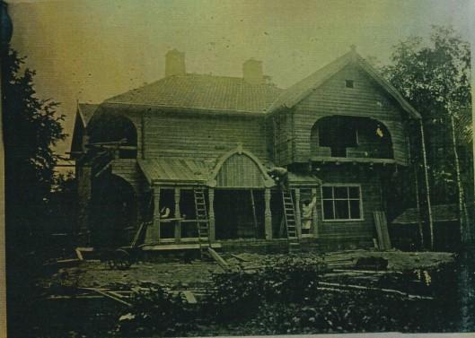 Timmerlieden aan het werk, juli 1920