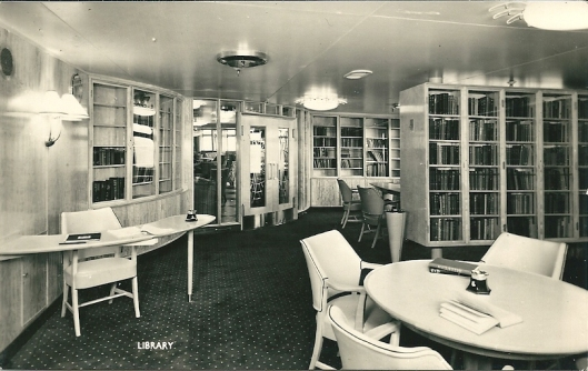 Bibliotheek van stoomschip 'Southern Cross, Shaw Savill Line