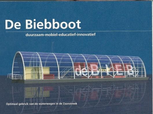 Ontwerp van de Biebboot voor de Zaanstreek