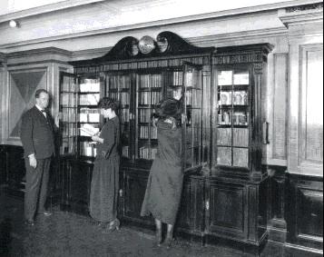 Oude foto van bibliotheek op ss. Southsampton