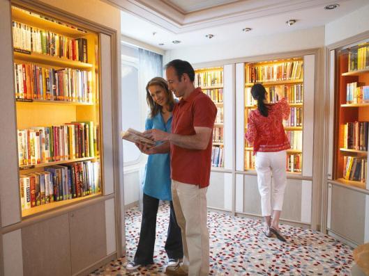 Bibliotheek op cruiseschip Ventura van P & O