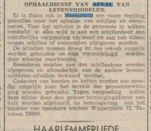 Het besluit, gepubliceerd 1412-1940 in Haarlem's Dagblad