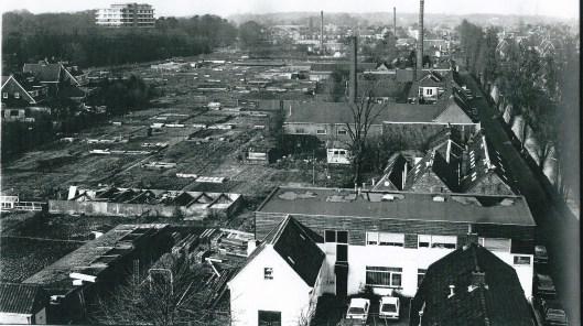Het gebied tussen de Blekersvaart en burgemeester van Lennepweg in 1982 gefotografeerd door Harm Botman