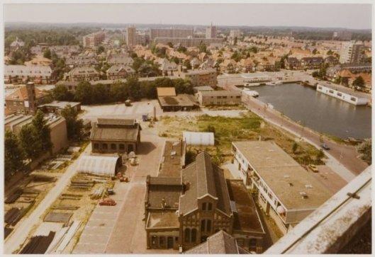 De terreinen van de gasfabriek Heemstede rond de Cloosterweg, 1974 (NHA).