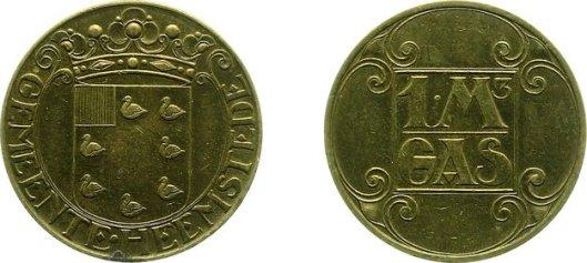 Gaspenning Heemstede met het heraldisch wapen van de gemeente