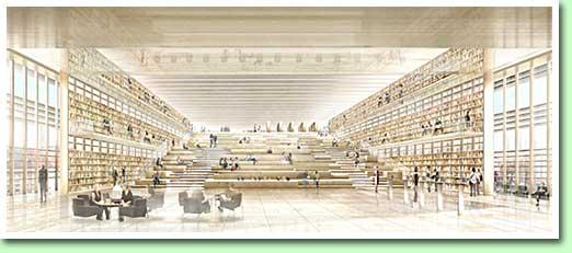 Interieur-ontwerp bibliotheek Gent