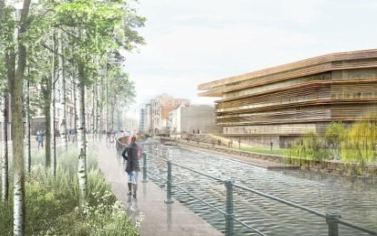 Ontwerp exterieur nieuwe stadsbibliotheek Gent