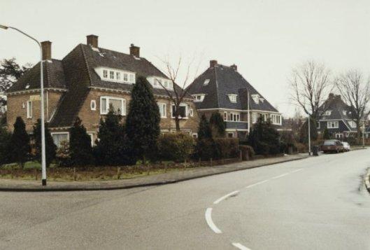 Hoek Laan van Boreel: twee huizen onder één kap (nr.1 en 3), architect A.Brandt; overige huizen ontworpen door Huib Tuininga. Foto 1999 (NHA)