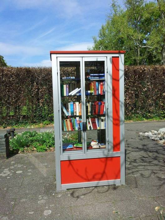 Free Little Library in Karlsruhe, Duitsland