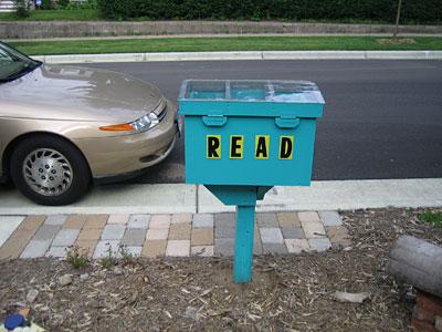 Voorbeeld vaan een leesbox in de staat Minnesota