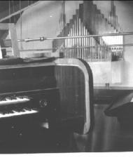 Het orgel in de Kleine Vermaning, in 1937 gebouwd door H.W.Flenstrop voor de Ned. Protestantenbond