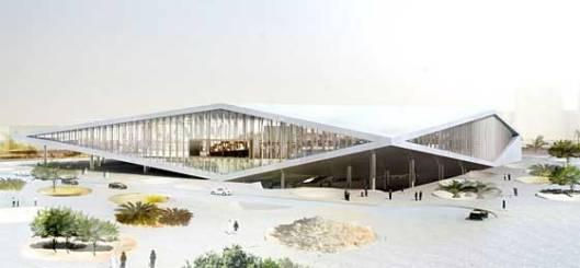 Ontwerp Nationale Bibliotheek Qatar in Doha van OMA (Rem Koolhaas)