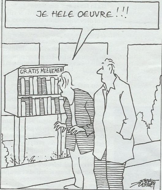 Cartoon van Stefan Verwey uit bijlage sir Edmund van De Volkskrant, 23 mei 2015.