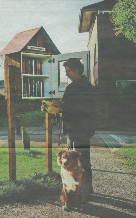 Minibieb in Lelystad (NRCHandeldblad, 29-10-2014)