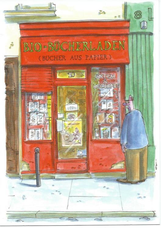 Bio-Bücherladen Bücher aus papier). Cartoonkaufhaus.de