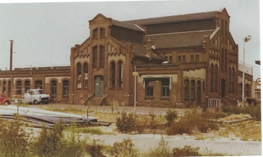 De gasfabriek omstreeks 1960