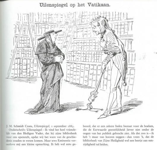 Uilenspiegel op het Vaticaan; door J.M.Schmidt Crans. Uit: Het boek als wapen. Bert Bakker, 1980.