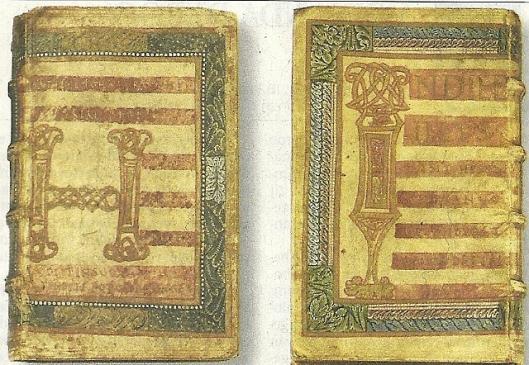 De ontdekte 9e eeuwse perkamenten bladen