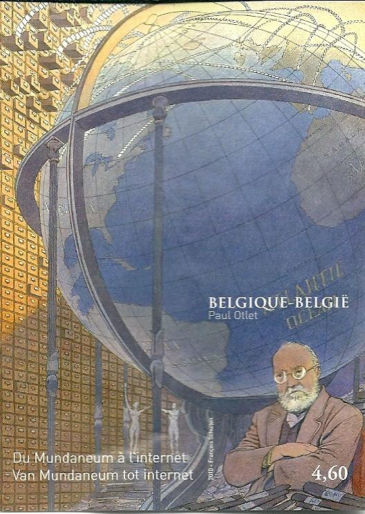 Een op 16 januari 2010 door de Belgische Posterijen uitgegeven postzgels gewijd aan Paul Otlet (met La Fontaine) grondlegger van de Universele Decimale Classificatie (UDC), een uitbouw van de Dewey Decimale Classicicatie van de Amerikaanse bibliothecaris Melvil Dewey