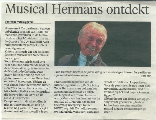 Uit: Haarlems Dagblad van 19 juni 2013