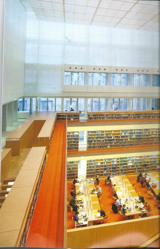 Deel van leeszaal in Unter den Linden, Berlijn
