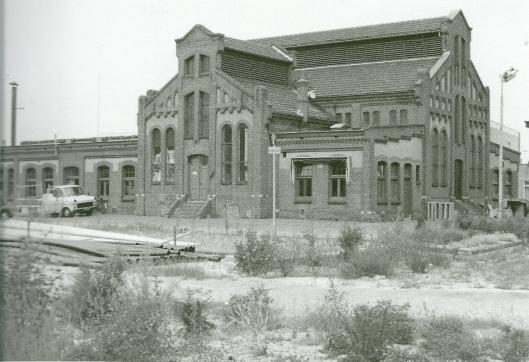 Foto van de fabriek, in 1963 gesloopt.