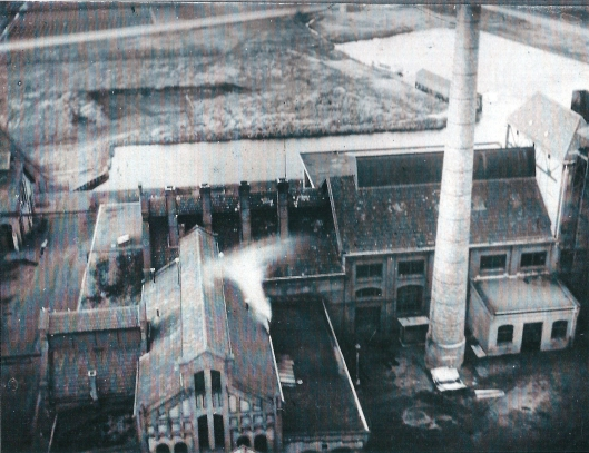 Overzicht van de gasfabriek aan de Nijverheidsweg in Heemstede