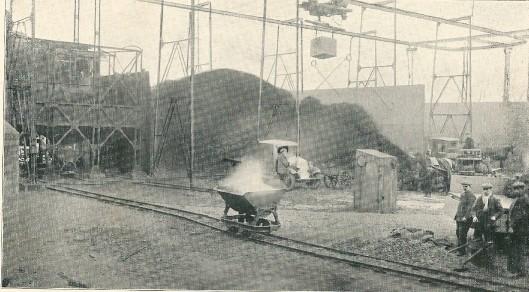 Het cokesterrein van de gasfabriek in 1934