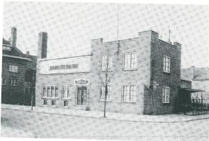 Het voormalig Badhuis in Heemstede aan de Postlaan dat in 1925 verrees op initiatief van wethouder dr.E.A.M.Droog