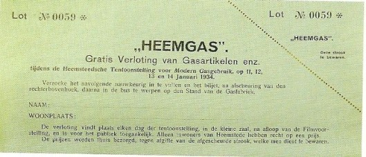 Lot 'Heemgas' (ill. Noord-Hollands Archief)
