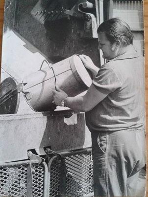 Piet Stijnman aan het werk
