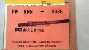 Het uitleenkaartje uit 1957