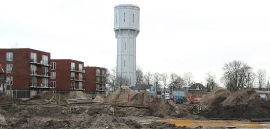Sanering van verontreinigde grond op de terreinen waar  sinds 1909  de gasfabriek Heemstede stond  (foto Wareco)