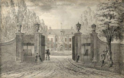 Vooraanzicht van de Hartekamp door Hendrik Tavenier, 1773 (NHA).
