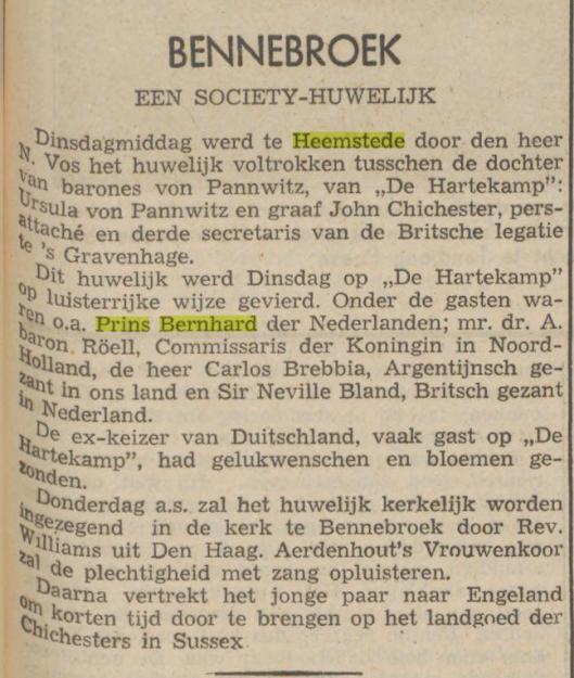 Uit: Haarlem's Dagblad van 27 maart 1940