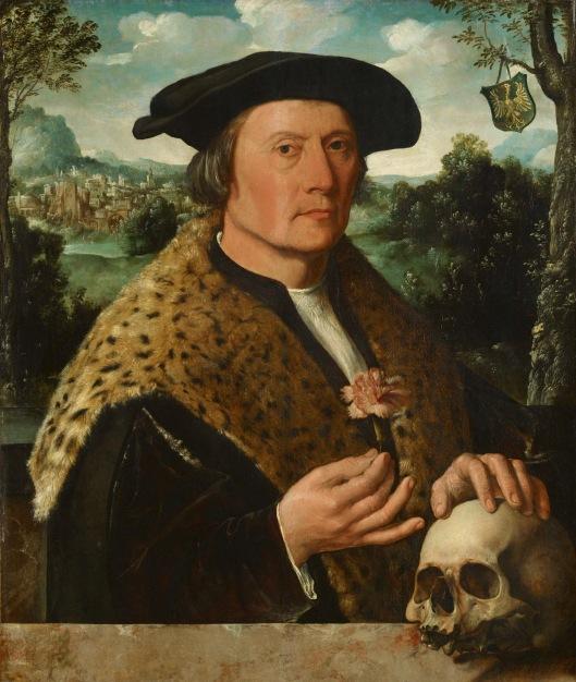 Dirck Jacobszoon: bankier Pompeius Occo uit Augsburg (1483-1537), bankier als vertegenwoordiger van Fugger. Vroeger in bezit van Catalina von Pannwitz, thans in het Rijksmuseum. Gedateerd circa 1531.