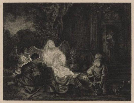 Vroeger aan Rembrandt toegeschreven bijbels tafereel, tegenwoordig aan een leerling. Was in bezit van mw. Von Pannwitz van de Hartekamp. Aangekocht door Goering en tegenwoordig in het Rijksmuseum