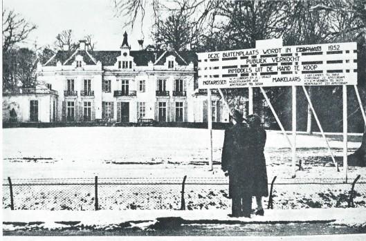 In 1952 staat de Hartekamp te koop en zijn de kunstschatten uit het huis gehaald, geveild ten ten dele ook naar dochter Ursula in Engeland. De Broeders Penitenten uit Boekel kochten het landgoed op 26 april 1952 voor ruim 3 ton.